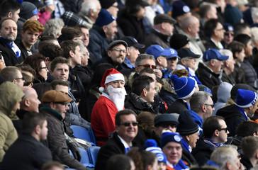 Brighton fan wearing Christmas fancy dress