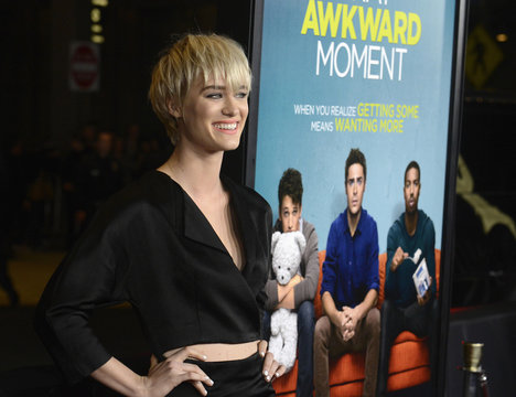 """Mackenzie Davis attends the premiere of """"That Awkward Moment"""" in Los Angeles"""