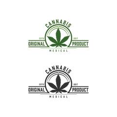 cannabis medical emblem, logo