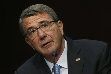 U.S. Defense Secretary Carter testifies on operations against the Islamic State on Capitol Hill in Washington