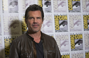"Cast member Brolin poses at a press line for ""Sin City: A Dame to Kill For"" during the 2014 Comic-Con International Convention in San Diego"
