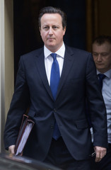 Britain's Prime Minister David Cameron leaves Number 10 Downing Street after a cabinet meeting in London