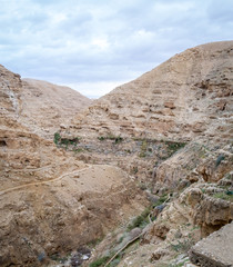 The Wadi Qelt, mountain area in Israel