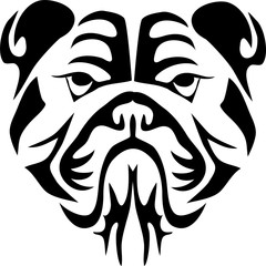 Bulldog head - stylized illustration
