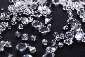 Beautiful diamonds on black background