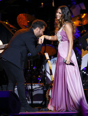 Singers Diego Torres and India Martinez perform during the 2014 Latin Recording Academy Person of the Year Tribute to Joan Manuel Serrat in Las Vegas