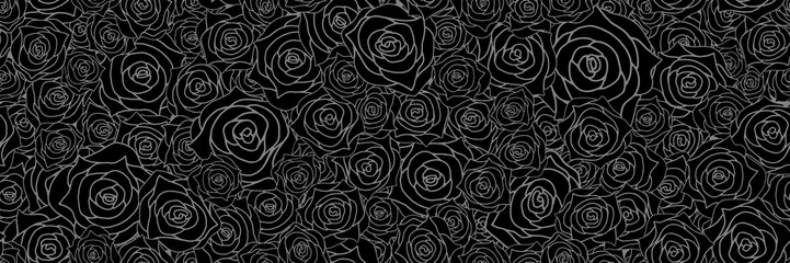 Rose background. Seamless pattern.Vector. 薔薇のパターン