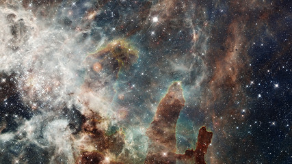 Beautiful nebula in cosmos far away. Elements of this image furnished by NASA.