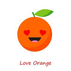 Banner Orange Emotions. Vector illustration.