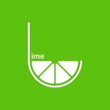 Green lime logo design vector template.