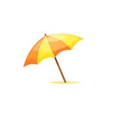 Beach umbrella isolated illustration