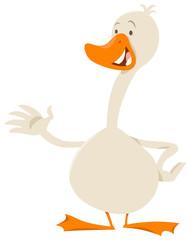 cute goose bird animal character