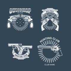 Collection of Gun club emblems