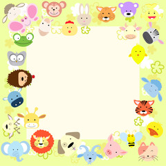 baby animal frame
