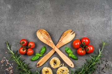 Italian food elements