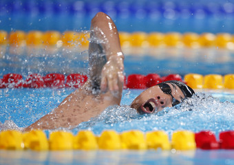 Jang of Korea competes in the men's 800m freestyle heats during the World Swimming Championships in Barcelona