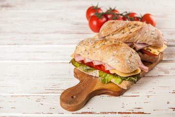 Fotoväggar - Delicious ciabatta sandwich