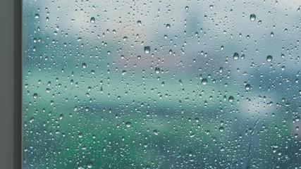 Rain / Water drop of rain on glass window
