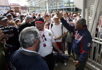 Minnesota Twins great Carew opens the Rod Carew Gate at Target Field in Minneapolis