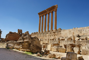 Temple of Jupiter at Baalbek, Lebanon
