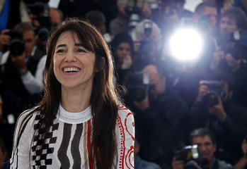 """Cast member Charlotte Gainsbourg poses during a photocall for the film """"Incompresa"""" in competition for the category """"Un Certain Regard"""" at the 67th Cannes Film Festival in Cannes"""