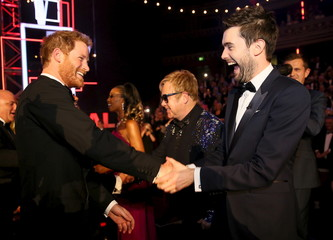 Britain's Prince Harry greets Jack Whitehall after the Royal Variety Performance at the Albert Hall in London
