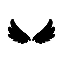 Wing silhouette design vector