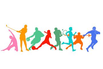 Gruppe von Athleten und Sportler Illustration