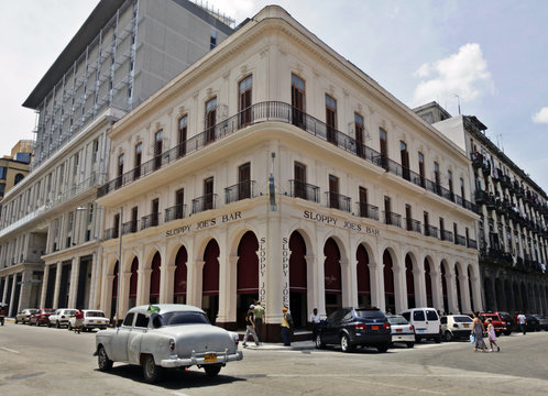Newly reopened Sloppy Joe's bar is pictured in Havana