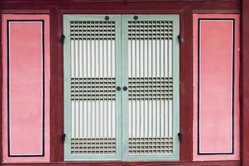korea traditional style door