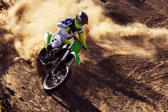 Professional dirt bike rider