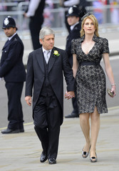 Speaker of the House of Commons Bercow and wife arrive at Westminster Abbey