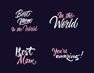 Four Mother Day Letterings Collection