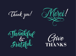 Four Thanks Letterings Collection