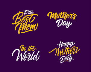 Mothers Day Letterings Set