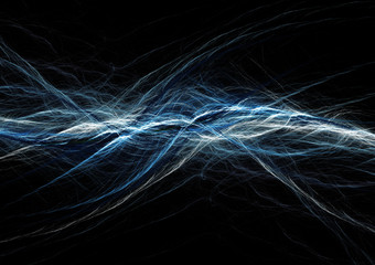 Blue astract lightning, electric background