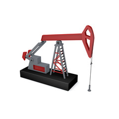Oil pump jack.Isolated on white background.3D rendering illustration.