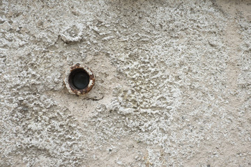 Wall of cement have pipe