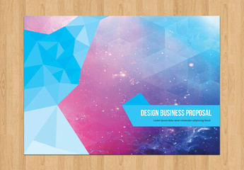 Business Proposal Layout with Geometric Elements 1