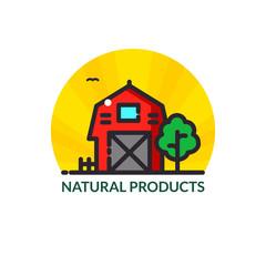 Farm logo vector illustration