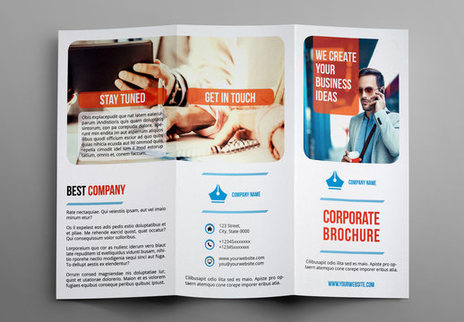Trifold Business Brochure Layout