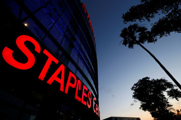 Exterior of Staples Center in Los Angeles