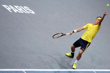 Tennis - Paris Masters tennis tournament third round - Jo-Wilfried Tsonga of France v Kei Nishikori of Japan