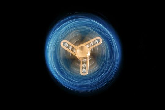 hand spinner jouet tendance anxiété main occupation distraction divertissement addiction vogue tendance relaxant détente stress tourner toupie lumineux trace laser métal roulement à bille