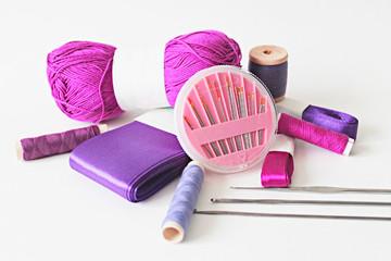 Purple needlework tools photo