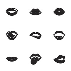 Icons for theme women's lips