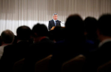 Singapore's Prime Minister Lee Hsien Loong speaks at the International Conference on The Future of Asia in Tokyo
