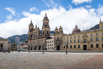 Canvas Prints South America Country Bolivar Square and Cathedral - Bogota, Colombia
