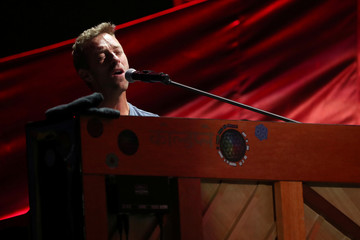 Chris Martin of Coldplay performs at the Global Citizen Festival at Central Park in Manhattan