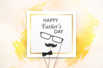 Happy Fathers Day template greeting card. Fathers day Banner, flyer, invitation, congratulation or poster design. Father's day concept.